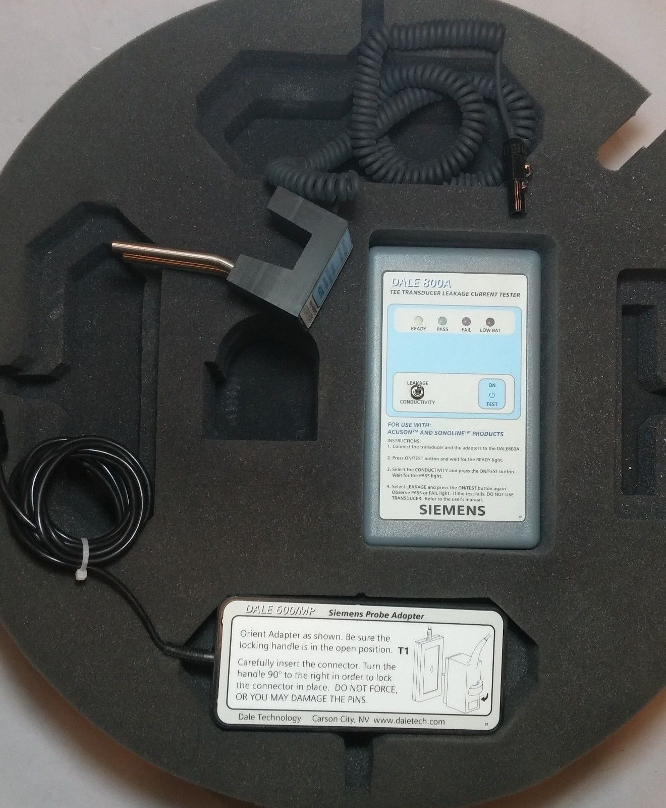 Siemens Dale 800a Tee Transducer Leakage Current