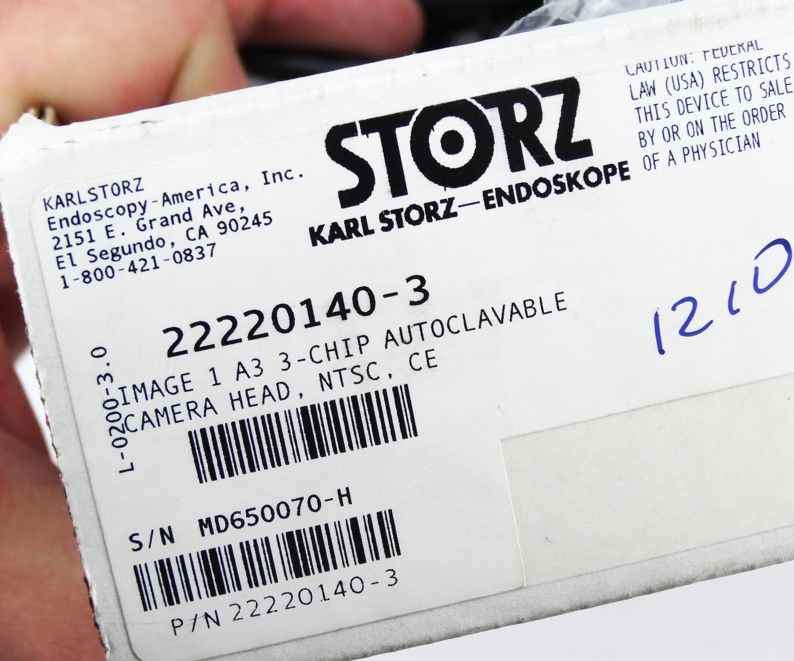 Karl Storz Image1 Autoclave A3 Camera Head 3chip 22220140 NTSC Endoscopy  ENT *USED*