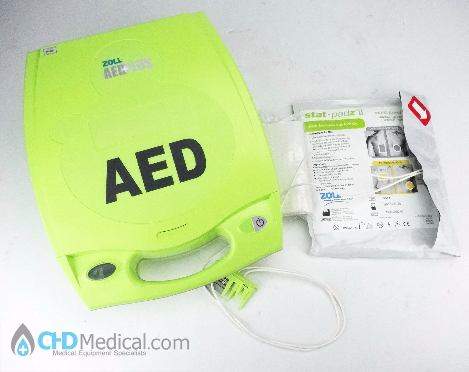lot of 3 ZOLL AED Plus Automated Defib w/ Pads