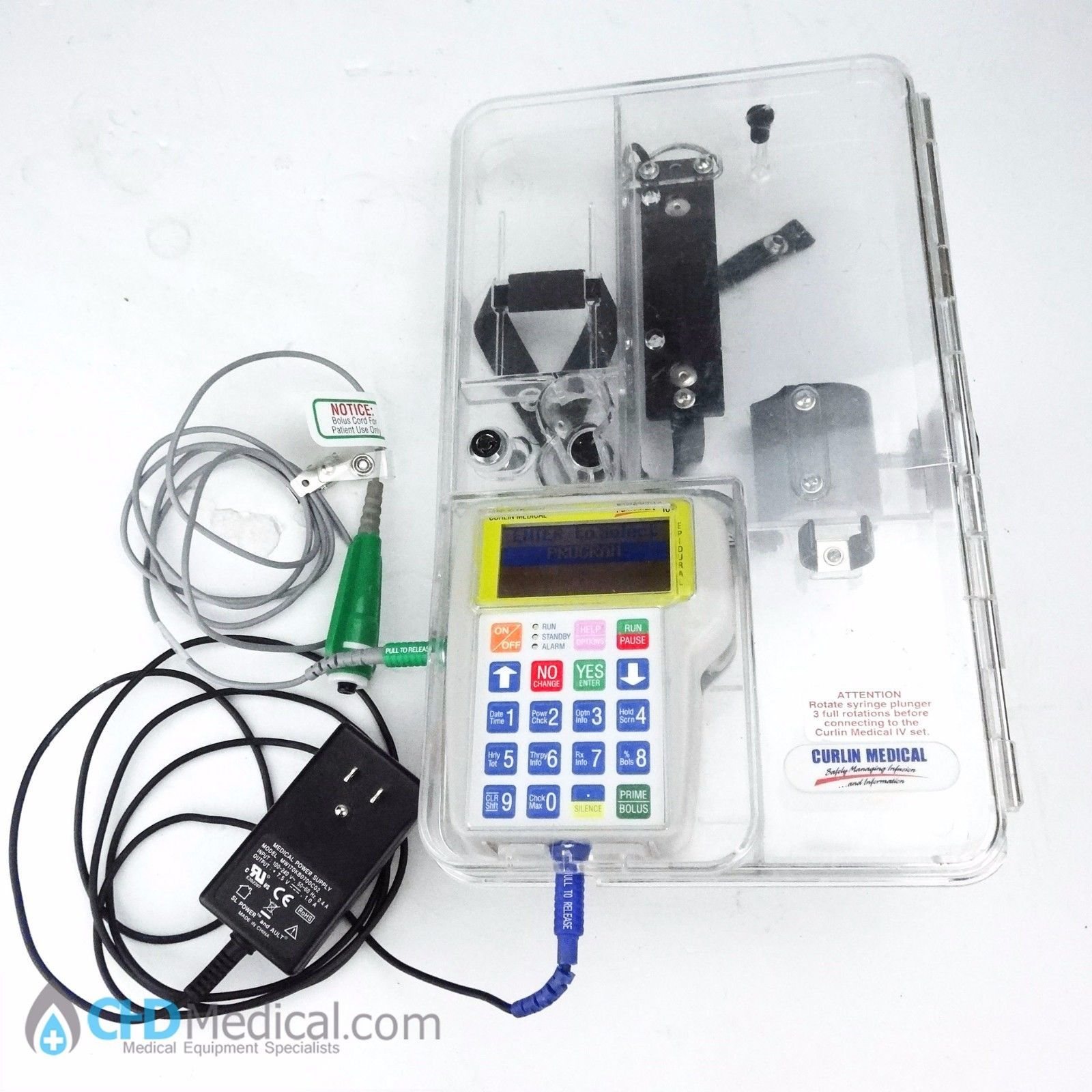 moog curlin medical painsmart iod epidular infusion pump chd medical